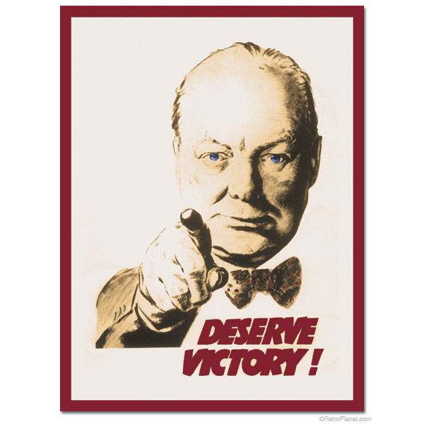 "Churchill ""Deserve Victory"""