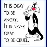 It is ok to be angry